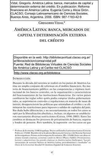 America Latina - Centro de Estudio Sobre Desarrollo España-México