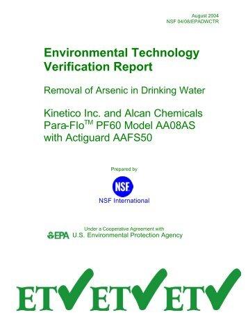 Final Kinetico-Alcan ETV Report Ch 1-3 - US Environmental ...