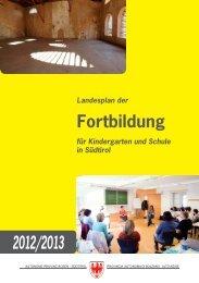 Landesplan der Fortbildung 2012/13 - Kindergarten und Schule in ...