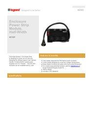 Download Enclosure Power Strip Module (AC1031) spec ... - CE Pro