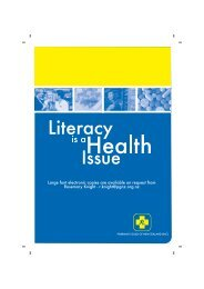 Literacy is a Health Issue - Pharmacy Guild of New Zealand