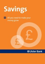 Savings - Ulster Bank
