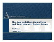 The Appropriations Committees and 'Discretionary' Budget Issues