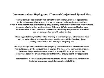Comments about Haplogroup I Tree and ... - waughfamily.ca