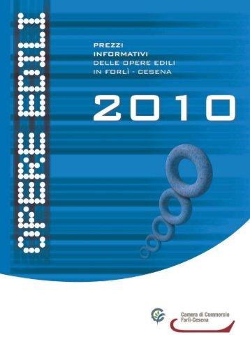 listino opere edili 2010 - Camera di Commercio di Forlì-Cesena