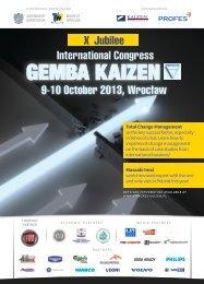 X Jubilee International Congress 9-10 October 2013, Wrocław