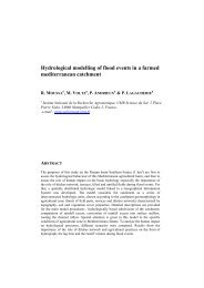 Hydrological modelling of flood events in a farmed - idrologia@polito