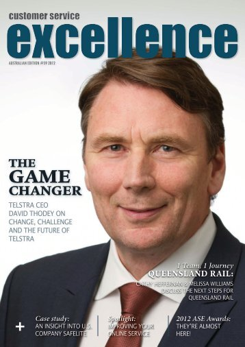 David Thodey cover - Customer Service Institute of Australia