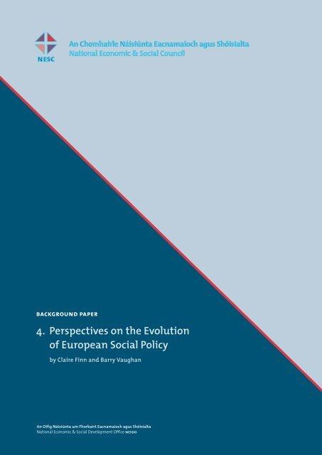 4. Perspectives on the Evolution of European Social Policy