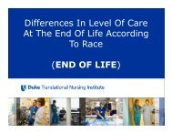 Differences In Level Of Care At The End Of Life According To ... - DTMI