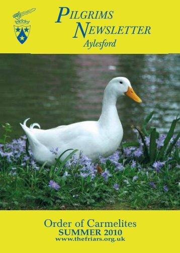 Aylesford N/LSUMMER 10 - British Province of Carmelite Friars