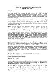 Pārskats par bīstamo atkritumu apsaimniekošanu Latvijā, 1998