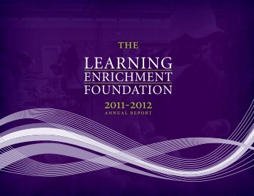 2011 - 2012 - Learning Enrichment Foundation