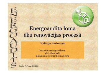 Energoaudita loma ēku renovācijas procesā