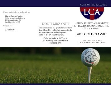 2013 Golf Brochure - Liberty Christian Academy