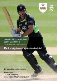 The first step towards professional cricket - Everyone Active