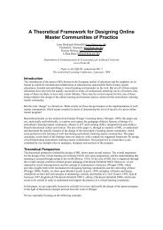 A Theoretical Framework for Designing Online Master Communities ...