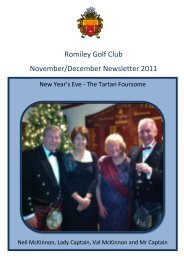 to read Nov / December 2011 newsletter - Romiley Golf Club