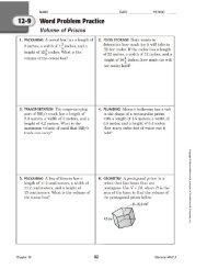 12-9,' Word Problem Practice