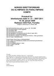Møte nr. 21: 19-20. januar 2009 - Norges idrettsforbund
