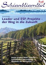 Leader und ESF-Projekte - der Weg in die Zukunft