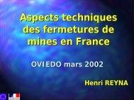 Aspects techniques des fermetures de mines en France