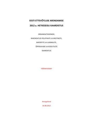 Ettevõtluse edendamise kaardistus - Arengufond