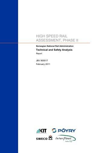 Technical and Safety Analysis - Jernbaneverket