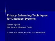 Information Sharing across Private Databases - Rakesh Agrawal's ...