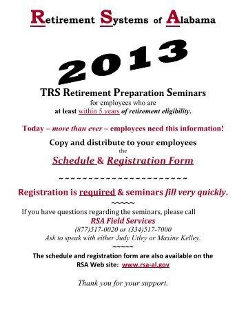 2013 Retirement Preparation Seminars - University of Alabama ...