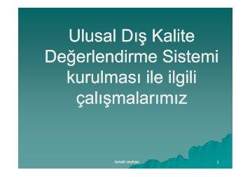 Ulusal Eksternal Kalite Kontrol Programı Hakkında