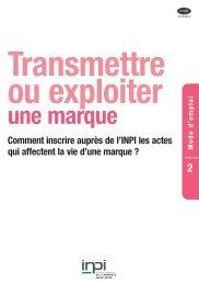 DT RN 109/2 A4 WEB:TRANSMETTRE - Inpi