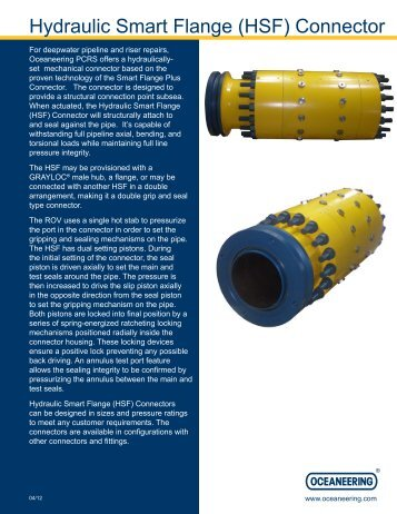 Hydraulic Smart Flange (HSF) Connector - Oceaneering