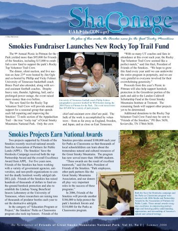 Smokies Fundraiser Launches New Rocky Top Trail Fund Smokies ...