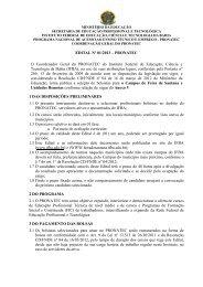 EDITAL Nº 01/2013 - Feira de Santana - IFBA