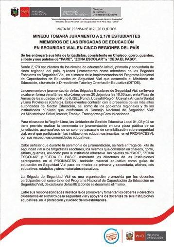ver nota completa - Dirección de Tutoría y Orientación Educativa