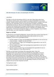 AG-Informationen für das 2. Schulhalbjahr 2012/2013
