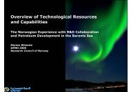 Norwegian Technological Resources and Capabilities - Demo 2000