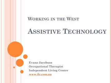 Evana Jacobson Assistive Technology - IDEASWA