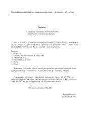 Zápisnica zo zasadania VV SJF SSO zo dňa - Stredoslovenská oblasť