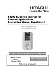 SJ300-EL Series Inverter for Elevator Applications Instruction ...