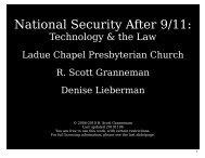 National Security (slides) - Scott Granneman
