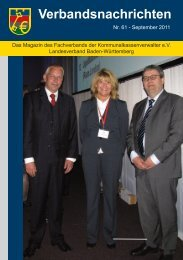 Verbandsnachrichten - Fachverband der Kommunalkassenverwalter ...
