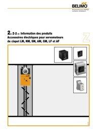 2.Z-2-CD Information des produits Accessoires électriques ... - Belimo
