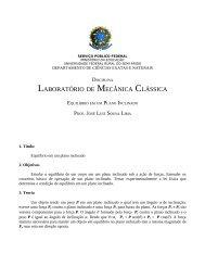LABORATÓRIO DE MECÂNICA CLÁSSICA - Ufersa