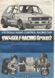 Tamiya VW Golf Racing GP2 Manual - Wheelsacademy.info