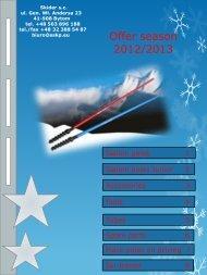 Offer season 2012/2013 - sskp skider