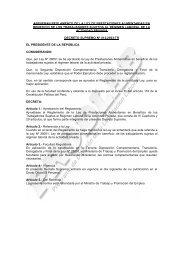 aprueban reglamento de la ley de prestaciones alimentarias en ...