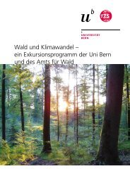 Wald und Klimawandel - 175 Jahre Universität Bern