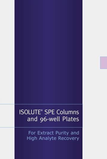 ISOLUTE® SPE Columns and 96-well Plates - Labicom